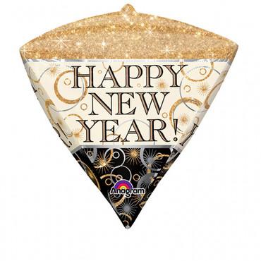 Folienballon Happy New Year Diamant