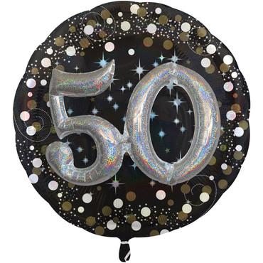 Folienballon 50 XXL schwarz