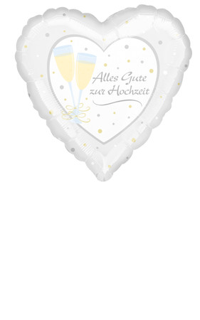 Folienballon Alles Gute zur Hochzeit