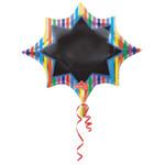 Folienballon gestreift individualisierbar 001