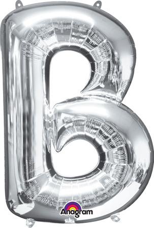 Folienballon Buchstabe B silber - 88cm