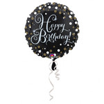 Folienballon Sparkling Happy Birthday 001