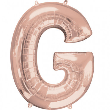 Folienballon Buchstabe G rose-gold - 88cm