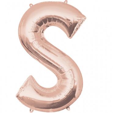 Folienballon Buchstabe S rose-gold - 88cm