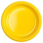 10 Plastikteller gelb 001