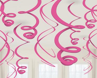 12 Deko-Swirls pink