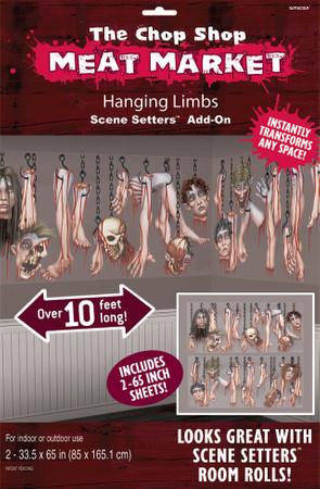 2 Wandfolien Halloween Chop Shop