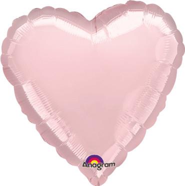 Folienballon Herz Pastel Pink 45cm