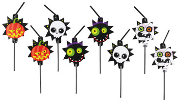 20 Trinkhalme Halloween Kids