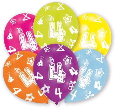 6 Zahlenballons 4