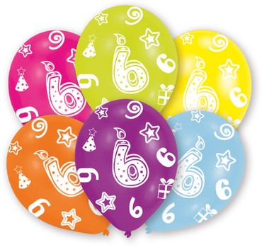 6 Zahlenballons 6