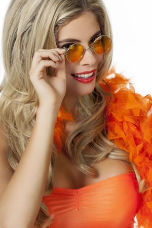 John Lennon-Brille orange/gelb