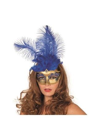 Maske Venezia gold-blau – Bild 2