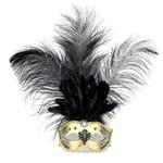 Maske Venezia gold-schwarz 001