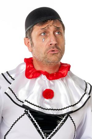 Pierrot-Kappe klein schwarz