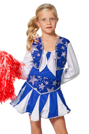 Cheerleader-Kleid blau