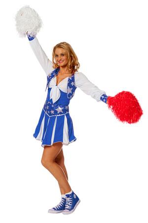 Cheerleader-Kleid blau