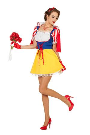 Weiße Prinzessin Kleid mit Cape