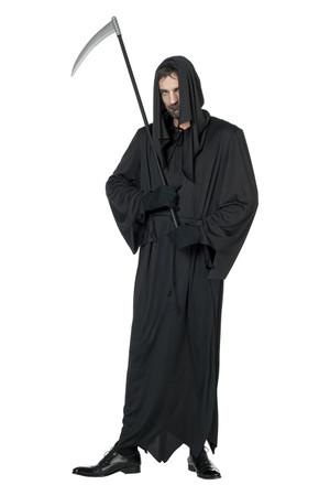 Schwarzer Tod-Robe mit Schnur – Bild 1