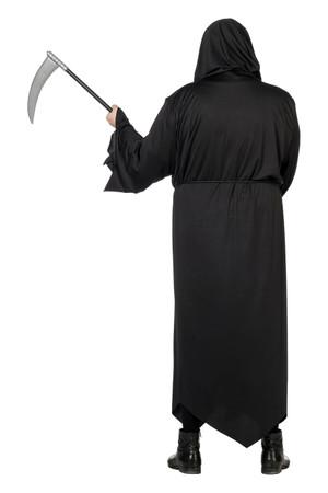 Schwarzer Tod-Robe mit Schnur – Bild 6
