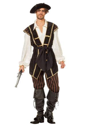 Piraten-Anzug braun inkl. Gürtel