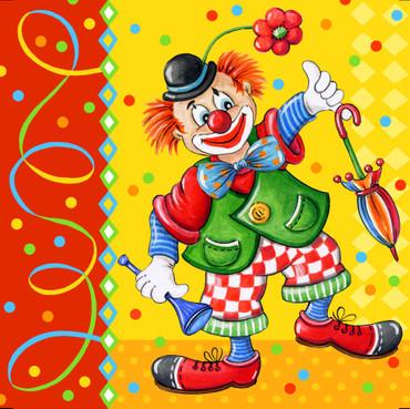 20 Lunch-Servietten Clowngesicht