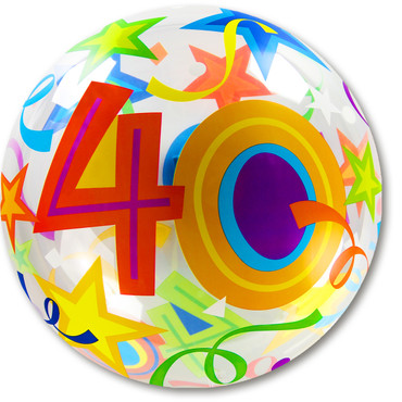 Bubble-Ballon Birthday 40