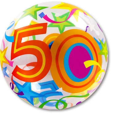 Bubble-Ballon Birthday 50