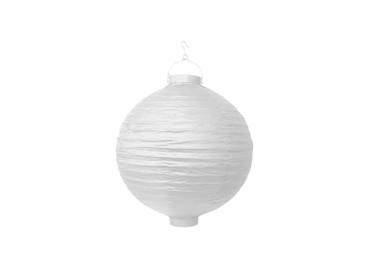 Papier-Lampion mit Birne weiß