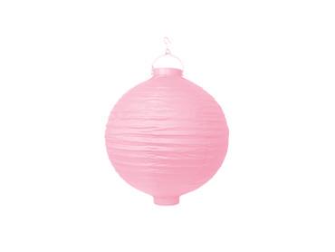 Papier-Lampion mit Birne rosa