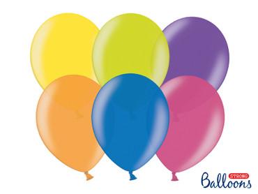 50 Metallic-Ballons bunt