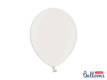 10 Metallic-Ballons weiß