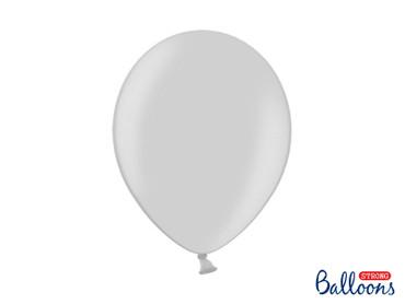 10 Metallic-Ballons silber