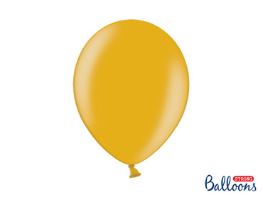 10 Metallic-Ballons gold