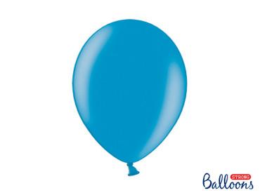 50 Metallic-Ballons türkisblau