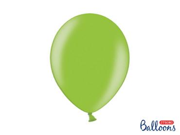 50 Metallic-Ballons brightgreen