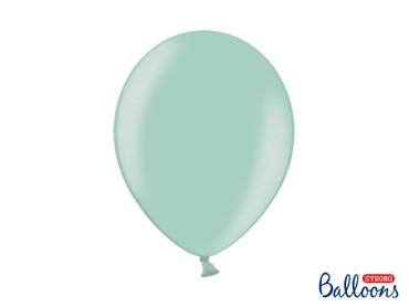 50 Metallic-Ballons mintgrün