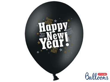 6 Metallic-Ballons Happy New Year – Bild 1