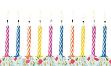 10 Geburtstagskerzen