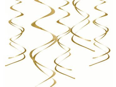 5 Deko-Swirls gold – Bild 1