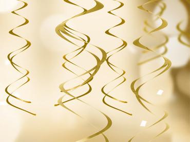5 Deko-Swirls gold – Bild 2