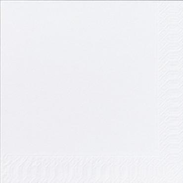 50 Duni Zelltuchservietten weiß 33x33cm