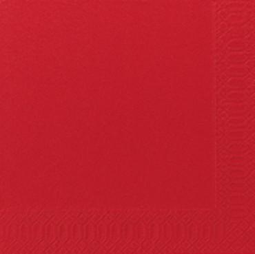 50 Duni Zelltuchservietten rot 33x33cm