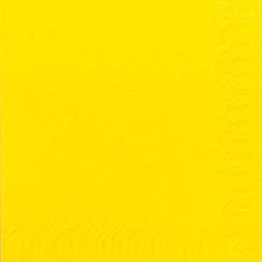 50 Duni Zelltuchservietten gelb 33x33cm