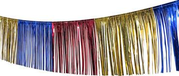 Fransengirlande bunt 10 m x 30 cm