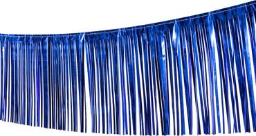 Fransengirlande blau 10m