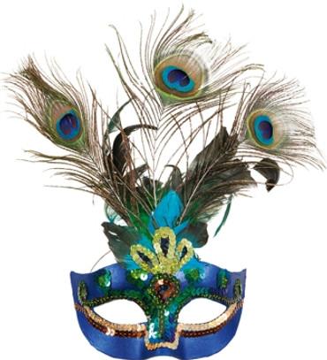 Halbmaske Paradiesvogel – Bild 1