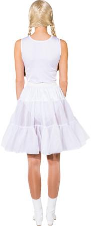 Petticoat knielang weiß 1-lagig – Bild 3