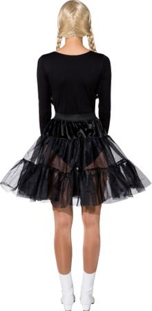 Petticoat knielang schwarz 1-lagig – Bild 3