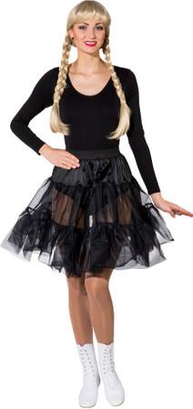 Petticoat knielang schwarz 1-lagig – Bild 1